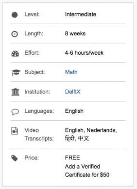 Update TU Delft MOOCs