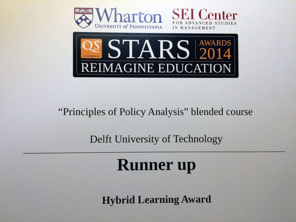 TU Delft at the Wharton Awards
