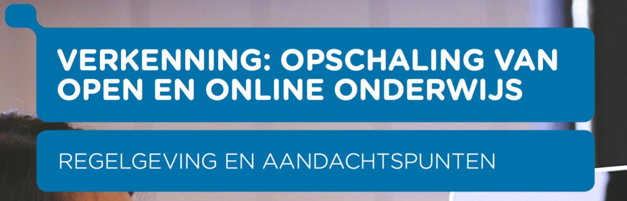 Opschaling van open en online onderwijs